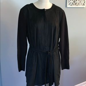 H by Halston  black zip up jacket 22W